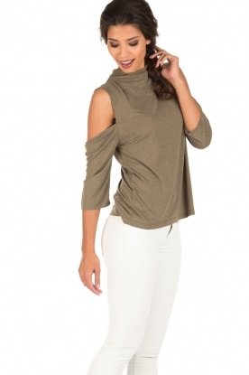 IRO | Cut-out top Adema | groen