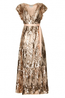 Dante 6 | Maxi wrap dress with sequins Dancer | rose