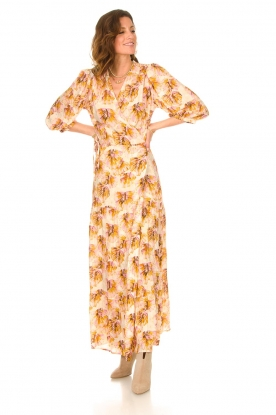 Look Maxi wrap dress with lurex Poetic