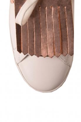 Leather sneaker Keaton Kiltie | white