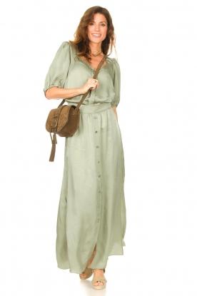 Dante 6 |  Satin maxi skirt Cooper | green