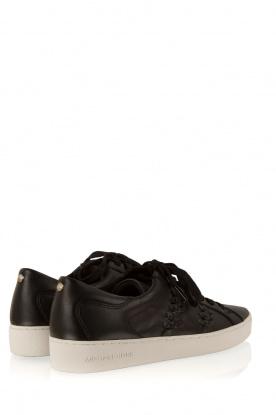MICHAEL Michael Kors | Leren sneakers Stevie | zwart
