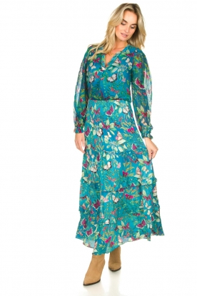 Look Floral maxi skirt Agadir