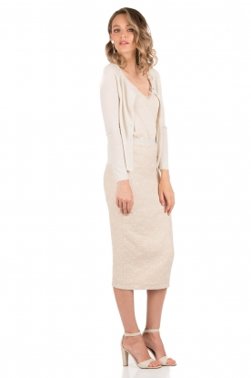 Woolen cardigan with cashmere Marble | sand