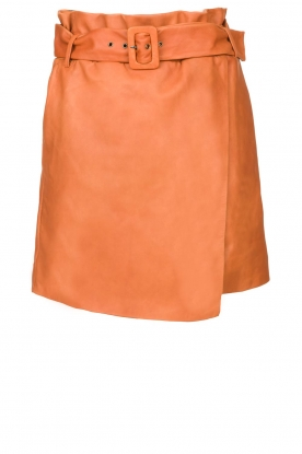 Dante 6 | Leather wrap skirt Leith | camel