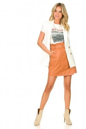 Look Leather wrap skirt Leith