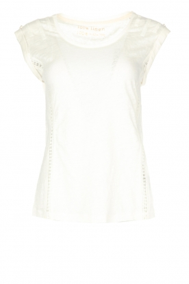 Patrizia Pepe | Linnen top Lace | off-white