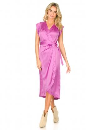 Dante 6 | Mouwloze midi-jurk Rouet | paars