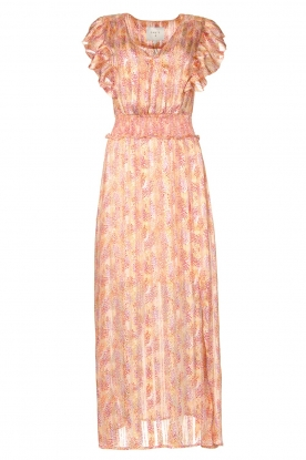 Dante 6 | Ruffle maxi dress Luscious | pink