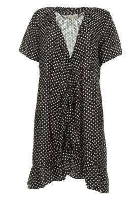 Lolly's Laundry |  Polkadot wrap dress Amber | black