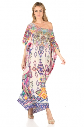 Camilla | Zijden kaftan Mother Knows Best | print