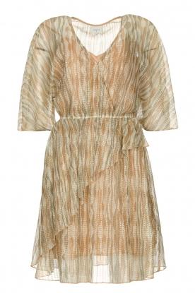 Dante 6 | Ruches jurk met lurex Cadya | metallic