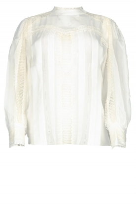 IRO |  Blouse with lace Ease | white