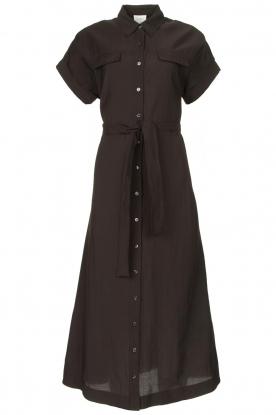 Dante 6 |  Midi button through dress Romy | black