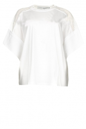 IRO | Top with see-through details Jadys | white