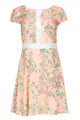 Patrizia Pepe |  Dress with floral print and lace Lucero | light pink