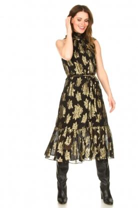 IRO |  Maxi dress with metallic print Laza | black