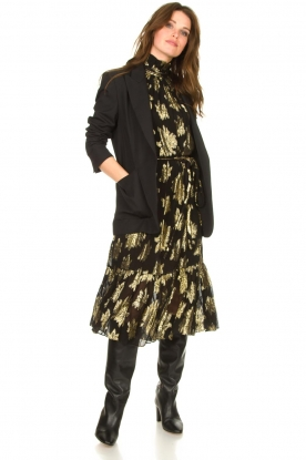 Look Maxi dress with metallic print Laza