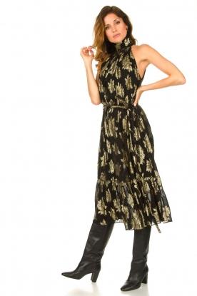 IRO |  Midi dress with metallic print Laza | black