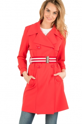 Atos Lombardini | Trenchcoat Rosso | rood