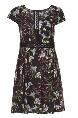 Patrizia Pepe |  Dress with floral print and lace Lucero | black