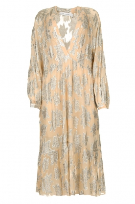 IRO |  Dress with lurex florals Katte | nude