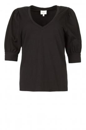 Dante 6 |  Top with puff sleeves Optimist | black