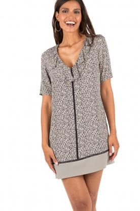 Dress with ruffles Malia | grey