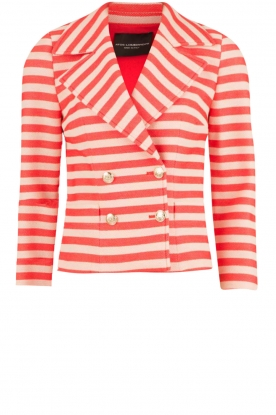 Atos Lombardini |  Double breasted blazer Joline | red/white