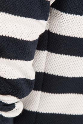 Atos Lombardini | Gestreepte blazer Pippa | blauw/wit