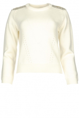 Nenette | Sweater with small stones | naturel
