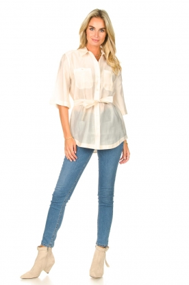 Look Long blouse with tie waist Radical