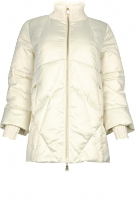 Nenette | Luxurious down jacket Ionio | natural