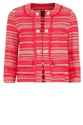 Atos Lombardini | Bouclé jasje Rosetta | rood