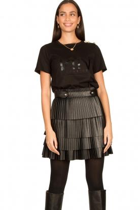 Nenette | Faux leather skirt Gi | black