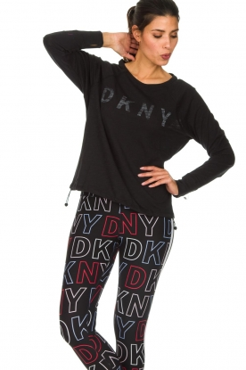DKNY Sport |  Logo-printed sports top Hailee | black