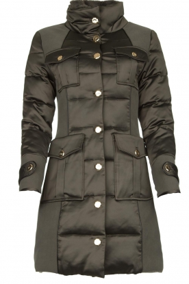 Nenette | Long down jacket Imperia | green