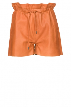 Dante 6 | Leather shorts with drawstrings Palma | camel
