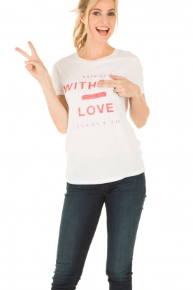Zoe Karssen | T-shirt Without Love | wit