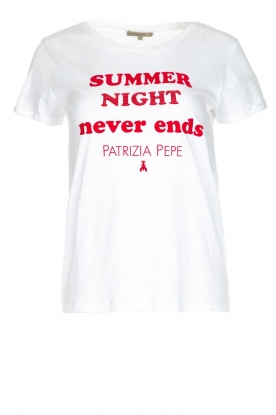 Patrizia Pepe | T-shirt Summer night | wit