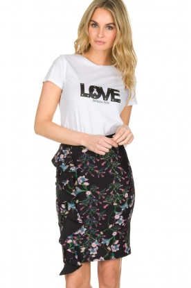 Patrizia Pepe | T-shirt Love | wit
