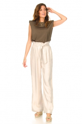 Dante 6    Trousers with tie waistbelt Garbo   nude