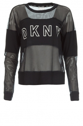 DKNY Sport |  Sports sweater with mesh details Ivey | black