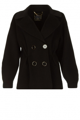 Nenette | Wool coat Vinile | black