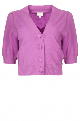 Dante 6 | Cardigan with puff sleeves Roisy | purple