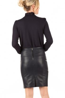 Faux leather pencil skirt Mendy | dark blue