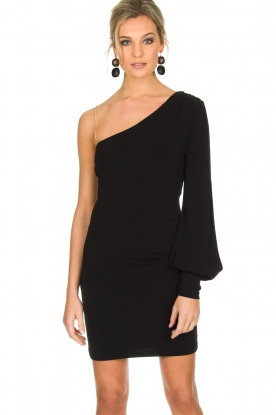Patrizia Pepe | One sleeve jurk Mea | zwart