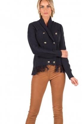Patrizia Pepe | Gebreid vest Ibis | blauw