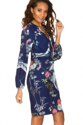 Hale Bob | Kleurrijke jurk Tavanna | donkerblauw