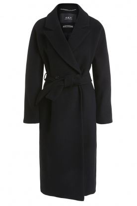 Set | Luxury wrap coat Elegance | black
